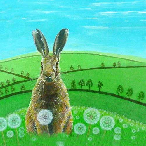 Fat Hare in Dandelions (JU-006)