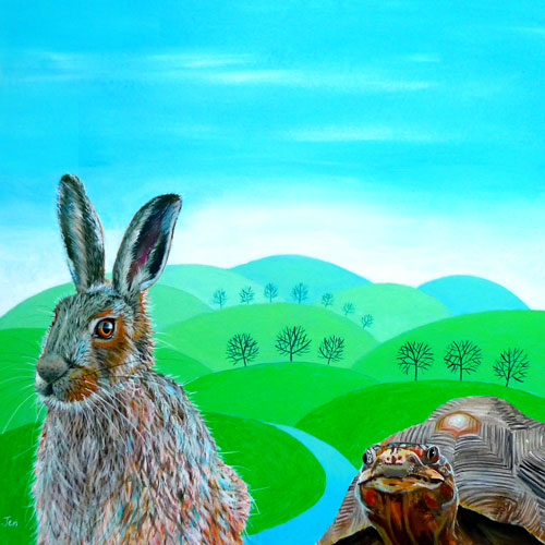 A Hare and a Tortoise (JU-015)